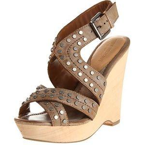 Saga Studded Wedge Sandals True Religion Size 9.5